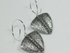 Silver Earrings with Carved Details