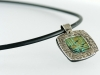Polymer Inlay in Silver Necklace