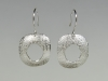 Silver openings earrings
