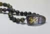 Keum boo necklace with titanium coated druzy beads