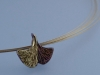 Ginkgo Leaf with Keum Boo Necklace